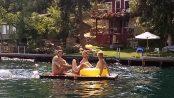 Heidi & kids on float copy