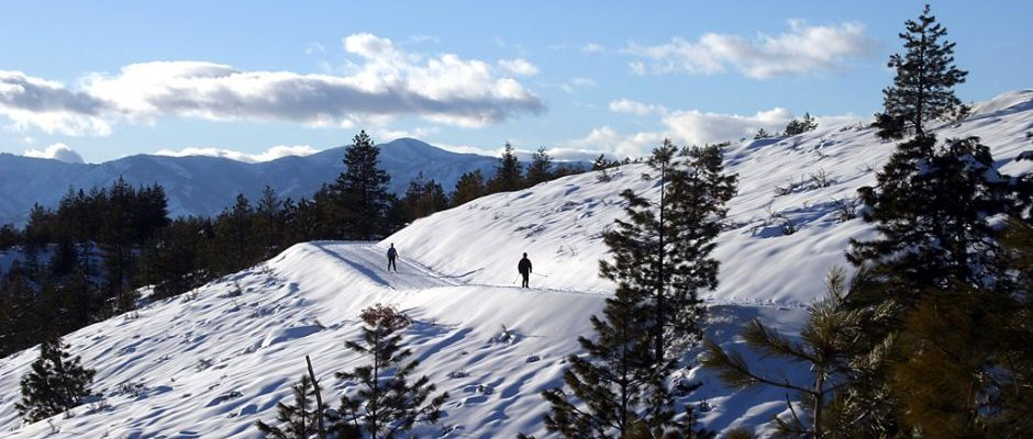 Echo Ridge Nordic Ski Area in the Lake Chelan area of North Central Washington offers over 20 miles of groomed Classic and Skate Skiing trails along with other trails set aside for snowshoers.